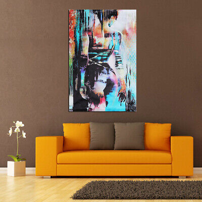 Handmade Modern Abstract Oil Painting Canvas Body Art Women Nude Body No Framed