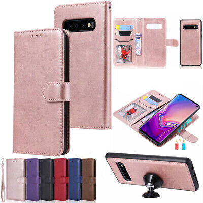 For Samsung Galaxy S5 S10(5G) J8 A8 Removable Magnetic Leather Wallet Case Cover