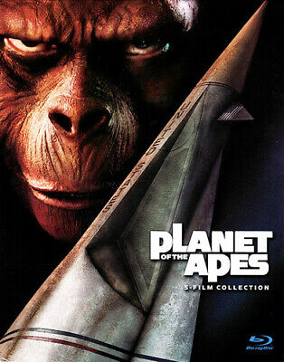 Planet of the Apes 1 / 2 / 3 / 4 / 5 - 5 Film Collection (5 Disc) BLU-RAY NEW