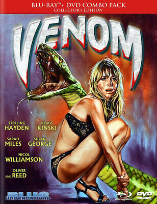 Venom (1981 Klaus Kinski) (2 Disc Blu-ray + DVD, Collectors Edition) BLU-RAY NEW