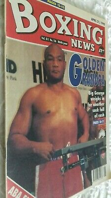 Apr 28Th  1995  Boxing  News Foreman  V Axel Schulz Preview/Richie Woodhall