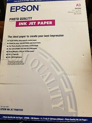 Epson Photo Quality - Matte coated paper - A3 297 x 420 mm - 102 gm2-100 shee