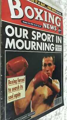 Oct 20Th  1995 Boxing News James Murray