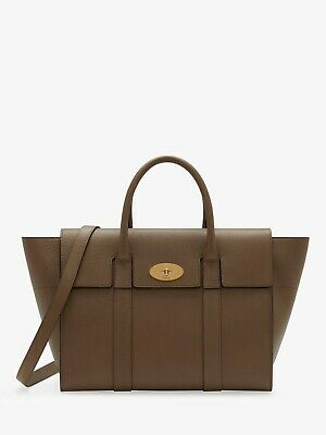 aadc677daf NEW MULBERRY BAYSWATER Strap Small Classic Grain Leather Bag, Clay ...