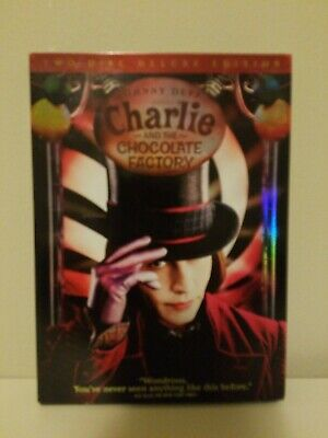 Charlie and the Chocolate Factory (DVD, 2005, 2-Disc Set, Widescreen Deluxe Ed.