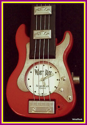 NEW RED STRAT Guitar Watch w/ hard shell guitar case: Showcase Special  Discount