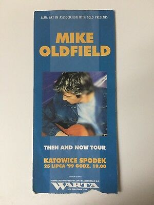 Mike Oldfield Rare Poland Concert Ticket