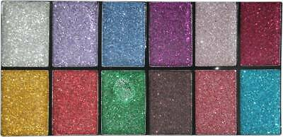 Huda Beauty 12 ULTRA PIGMENTED GLITTER HIGH SHINNING EYE SHADOW 12 COLOR