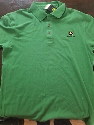 229aa47c NWT JOHN DEERE Polo Shirt Green Lightweight Breathable Embroidered ...