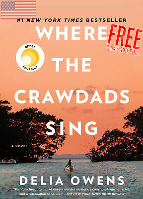 NEW Where the Crawdads Sing - Delia Owens Book Hardcover 2018 USA