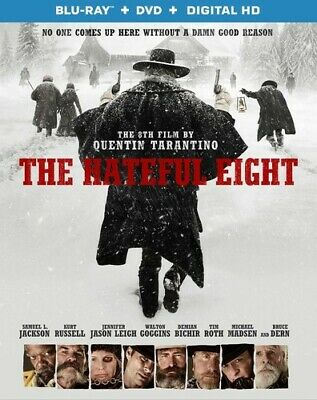 The Hateful Eight (Blu-ray/DVD, 2016, 2-Disc Set, Includes Digital Copy UltraVio