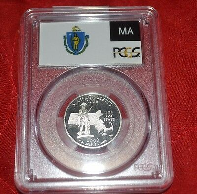 2000 S Proof Massachusetts State Quarter Graded Coin PCGS PR69 DCAM (G900)