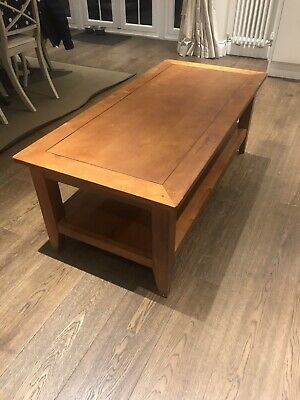 Lovely Large Solid Wood Coffee Table With Shelf Underneath
