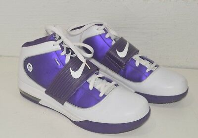 promo code a4b56 09e9f Zoom Air Max Lebron James WITNESS Mens SIZE 18 Purple White Basketball Shoes