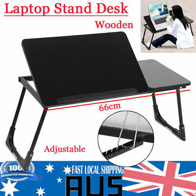 Portable Folding Laptop PC Desk Lap Bed Tray Dinner Notebooks Wooden Table Stand