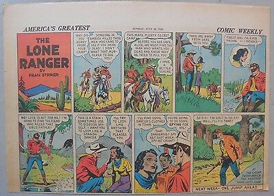 Lone Ranger Sunday Page by Fran Striker and Charles Flanders from 7/28/1940