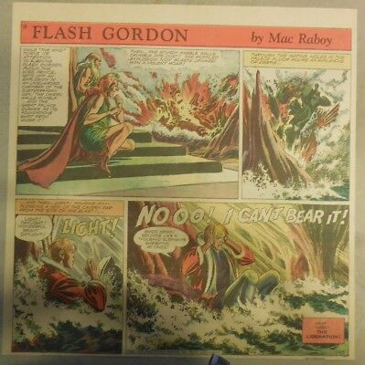 Flash Gordon Sunday Page by Mac Raboy from 1/10/1954  2/3's Full Page Size