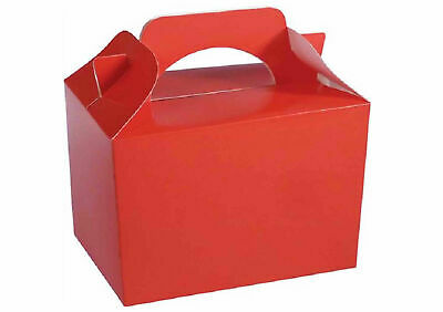 Red Party Boxes for Children Kids Food Loot Lunch Gift Birthday Box Bags