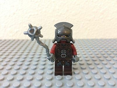 URUK-HAI w// Armor New Helmet and Axe 9471 Lego Lord of the Rings Minifigure