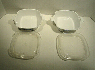 Corning Ware Cornflower Petite Pan with Lid P-41 Set of Two