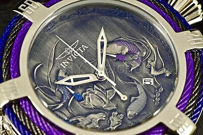 28527 Invicta Bolt Tri-Cable 54M Dragon WITH Koi Fish Stainless Steel 200M Watch