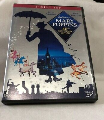 Disney's Mary Poppins DVD 2-Disc Set 40th Anniversary Edition **Free Shipping**