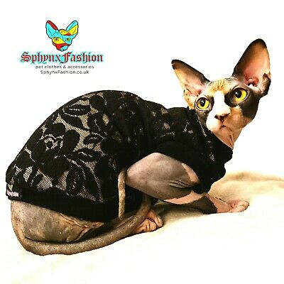 X LARGE Sphynx TOP T-shirt Vest Devon Peterbald Pet clothes MANY DESIGNS
