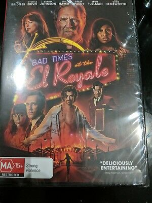 Bad Times At The El Royale Dvd (2018) New & Sealed- Free Postage! Region 4