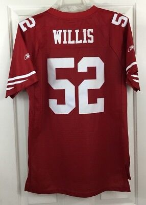 b8a196c5b ... game used jersey 2569d 63c1d  wholesale san francisco 49ers patrick  willis 52 reebok stitched jersey youth sz xl 18 20 becec