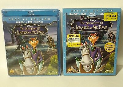 NEW The Adventures of Ichabod and Mr. Toad (Blu-ray/DVD, 2014, 2-Disc Set DISNEY