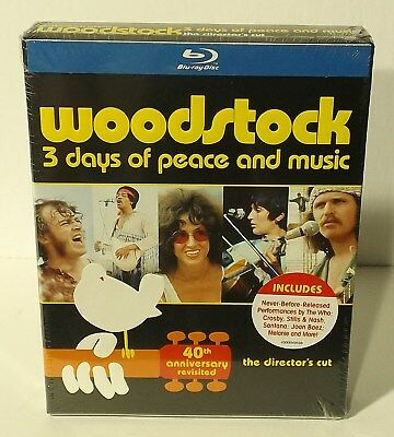 Woodstock: Three Days of Peace  Music (Blu-ray Disc, 2014, 3-Disc Set, 40th Anni