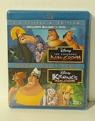 The Emperor's New Groove/Kronk's New Groove (Blu-ray Disc, 3-Disc Set) NEW