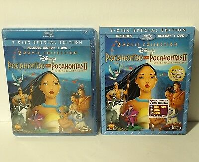 Pocahontas 2-Movie Collection (Blu-ray Disc, 2012, 2-Disc Set) NEW slipcover 1 2