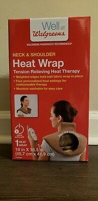 Walgreens Neck and Shoulder Heat Wrap Tension Relieving Heat Therapy 4 Settings