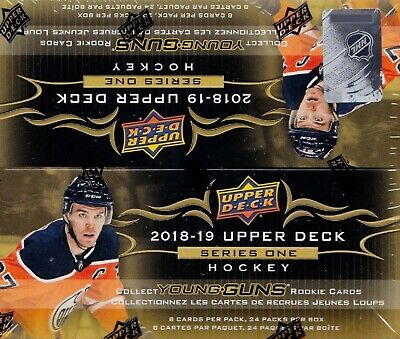2018 2019 Upper Deck Hockey Series 1 Factory Sealed Retail Box of 24 Packs 18 19