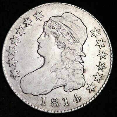 1814 Capped Bust Half Dollar CHOICE VF FREE SHIPPING E326 RCTX