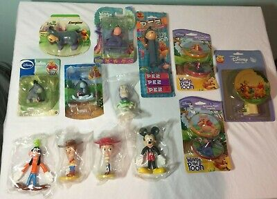Disney Collectibles (14) Items Eeyore, Mickey, Goofy, Pooh & Toy Story