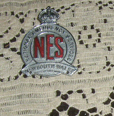 National Emergency Service Badge NSW Old Nice