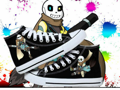 New! Undertale Cosplay personality High help canvas shoes Leisure canvas shoes :