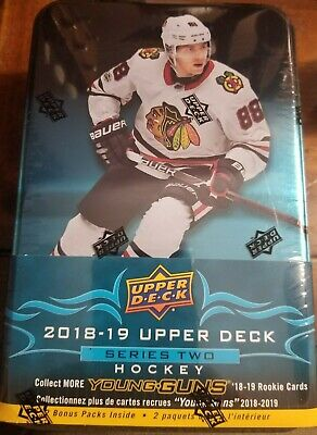 2018 2019 Upper Deck Hockey Series 2 BRAND NEW 96 Card Collectible TIN 2018 19