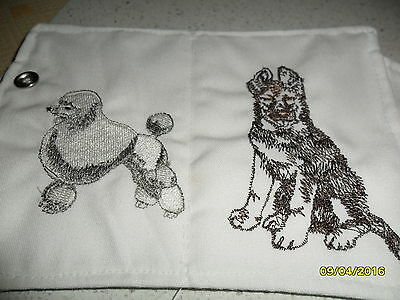 Embroidered Needle Case Pet Dogs & Scissors And Scissor Safe