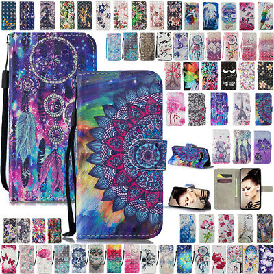For Galaxy S10Plus S10e Flip Leather Patterned Wallet Card Case Shockproof Cover