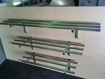 STAINLESS STEEL 1500x 300 COMMERCIAL SINGLE SHELF/POT RACK GRADE 304 HEAVY DUTY