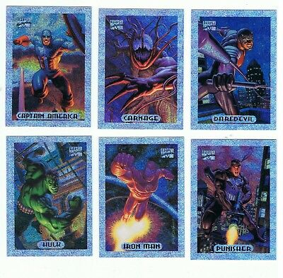 1994 Marvel Masterpieces - Silver Holofoils 10 Card Set