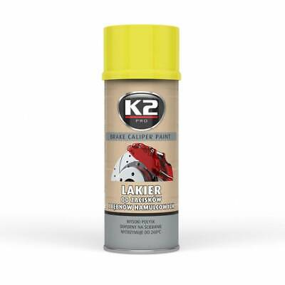 (12,88 €/1L)  K2 Brake Caliper Paint 400 Ml Yellow - Bremssattellack Spray Gelb