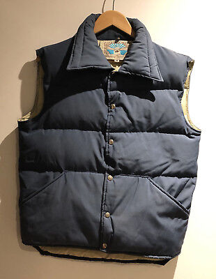 Vintage Down Vest Mens Medium