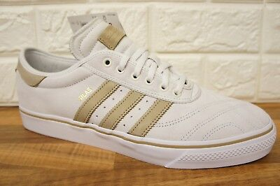 competitive price 95ea4 d54af Adidas Silas Adi-Ease Premiere Mens Size 11.5 White Beige Skate Trainers  BNWB