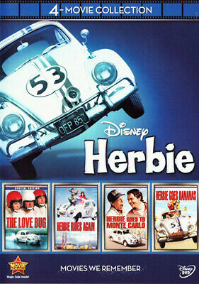Herbie: The Love Bug / Rides Again / Goes to Monte Carlo / Goes Bananas DVD NEW