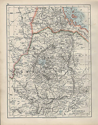1909 Victorian Map ~ Africa ~ Abyssinia