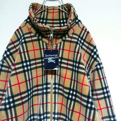 Burberrys Burberry Freece Jacket Coat Men Warm Large L Zip Up Made In Japan  F  bcc1cf88f